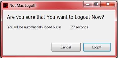 NotMacLogoff window